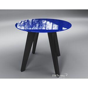 Стол Обеденный Леонардо Круг Сине-черный