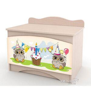 Ящик для игрушек Вальтер Совы Венге светлый