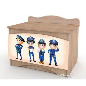 Ящик для игрушек Вальтер Полиция Дуб сонома