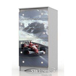 Комод высокий Вальтер Formula1 Серый