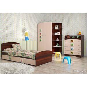 Детская комната Вальтер 3 в 1 Орех темный -  Венге светлый