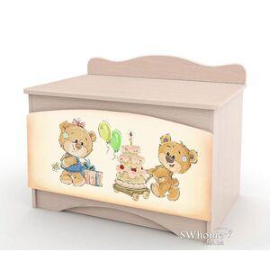 Ящик для игрушек Вальтер Мишка Хеппи Венге светлый