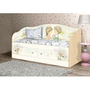 Детский диван Вальтер М+Д с 2 ящиками Венге светлый