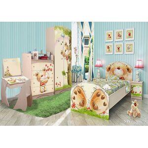Детская комната Вальтер Мишка с букетом Венге светлый