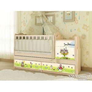 Кровать трансформер Вальтер Совы 5в1 Венге светлый