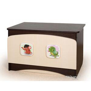 Ящик для игрушек Вальтер 3 в 1 Орех темный