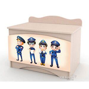 Ящик для игрушек Вальтер Полиция Венге светлый