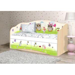 Детский диван Вальтер Совы с 2 ящиками Венге светлый
