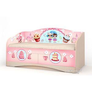 Детский диван Вальтер Лола с 2 ящиками Венге светлый