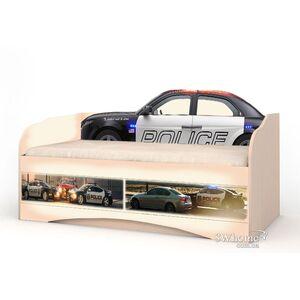 Детский диван Вальтер Полиция с 2 ящиками Венге светлый