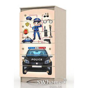 Комод высокий Вальтер Полиция Венге светлый