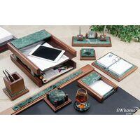 Набор настольный деревянный с мрамором Bestar 9 предметов Орех 9277WDN