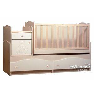 Кровать трансформер Вальтер Мишка 5в1 Венге светлый - ваниль