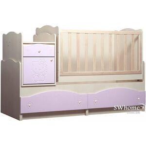 Кровать трансформер Вальтер Kiddy 5в1 Венге светлый - розовый
