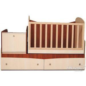 Кровать трансформер Вальтер Парус 4в1 Венге светлый - яблоня