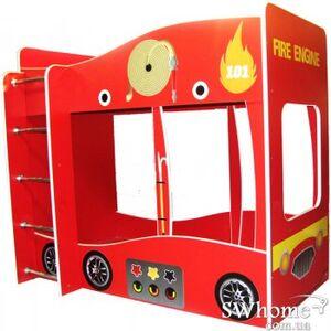 Кровать двухъярусная Пожарная Красная