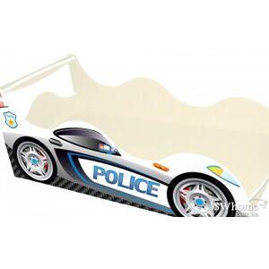 Кровать машина серии Драйв Полиция Белая