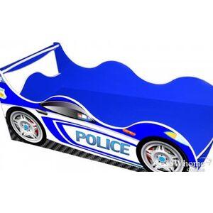Кровать машина серии Драйв Полиция Синяя