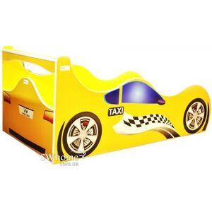 Кровать машина серии Форсаж Taxi Желтая