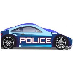 Кровать машина серии Бренд Полиция 1 с ящиком Синяя