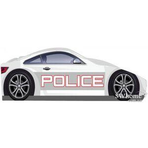 Кровать машина серии Бренд Полиция 1 с ящиком Белая