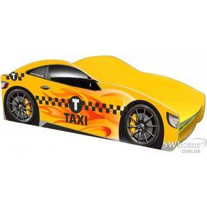 Кровать машина серии Бренд Такси с ящиком Желтая