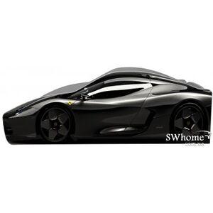 Кровать машина серии Бренд Феррари 2 с ящиком Черная