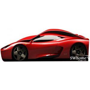 Кровать машина серии Бренд Феррари 2 с ящиком Красная