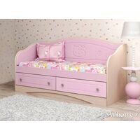 Детский диван Вальтер Kiddy с 2 ящиками розовый