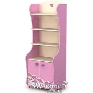 Книжный шкаф Бриз Pink Pn-04 Розовый