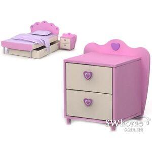 Прикроватная тумба Бриз Pink Pn-14-2 Розовая