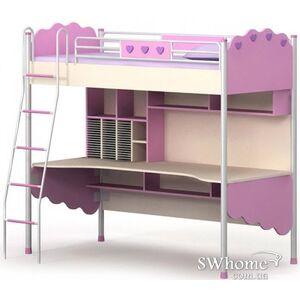 Кровать чердак Бриз Pink Pn-16-1 Розовая