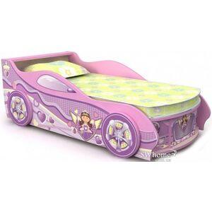 Кровать-машина Бриз Pink Розовая