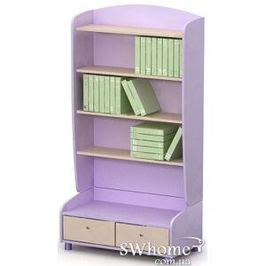 Книжный шкаф Бриз Silvia Si-04 Сиреневый