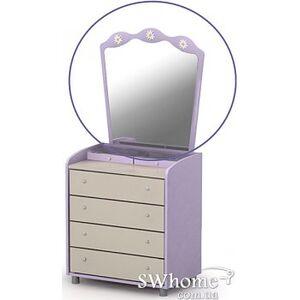 Зеркало для комода Бриз Silvia Si-07-1 Сиреневый