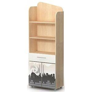 Книжный шкаф Бриз Mega M-04-1 Дуб светлый