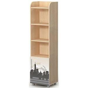 Книжный шкаф Бриз Mega M-05 Дуб светлый