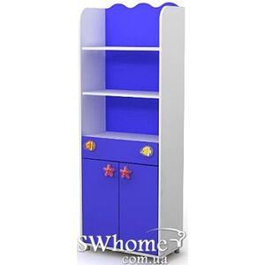 Книжный шкаф Бриз Ocean Od-04-1 Синий