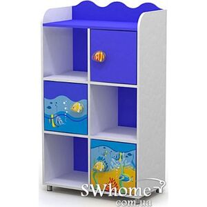 Книжный шкаф Бриз Ocean Od-04-2 Синий
