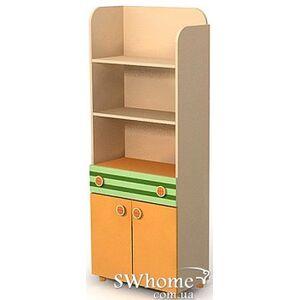 Книжный шкаф Бриз Active Bs-04-1 Оранжевый