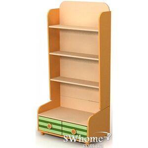 Книжный шкаф Бриз Active Bs-04-3 Оранжевый