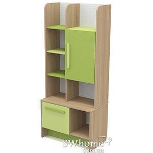 Книжный шкаф Бриз Акварели Кв - 04-1 Бирюзовый