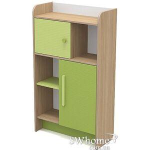 Книжный шкаф Бриз Акварели Кв - 04-2 Бирюзовый