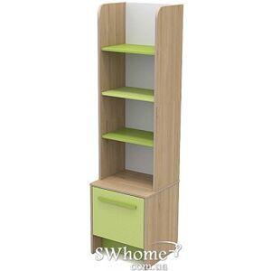 Книжный шкаф Бриз Акварели Кв - 05 Бирюзовый