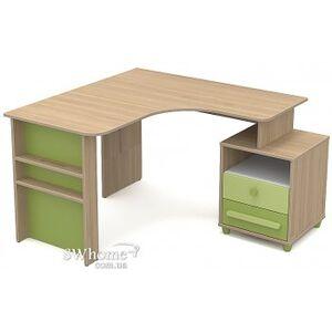 Письменный стол угловой Бриз Акварели Кв - 08-2 Бирюзовый