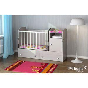 Детская кроватка-трансформер Oris Marica Белая