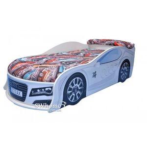 Кровать машина MebelKon Audi Белая