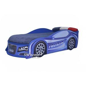 Кровать машина MebelKon Audi Полиция Синяя