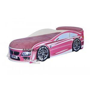 Кровать машина MebelKon Bmw Розовая