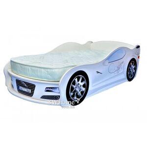 Кровать машина MebelKon Jaguar Белая